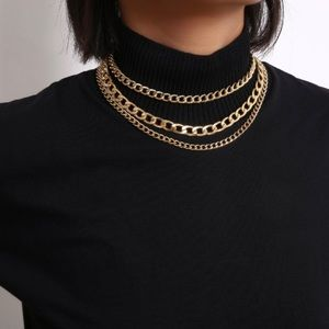 💫gold curb link chain necklace💫